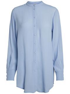 Lange Effen Overhemd Dames White