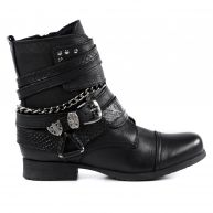 Sacha Girly biker boots - zwart