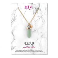 Gold Stone Necklace - Green