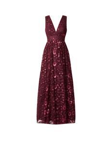 Gala maxi-jurk van tule met borduring en pailletten
