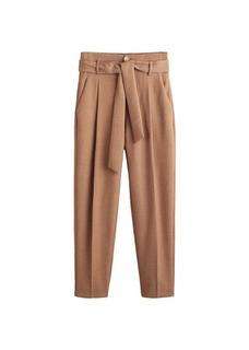 Straight-fit broek met ceintuur
