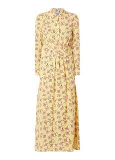 Alham maxi blousejurk met bloemendessin