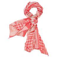 Sjaal Laura Kent oranje/rood/wit