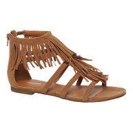 Bruine sandaal franjes