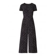 Warehouse Wide fit jumpsuit met stippendessin