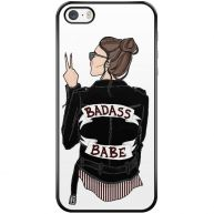 iPhone 5/5s/SE transparant hoesje - Badass girl