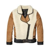 Scotch & Soda Suède jack met teddy