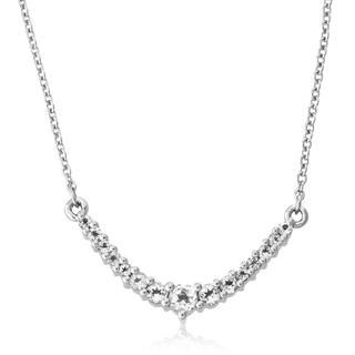 Zilveren halsketting met een witte topaas