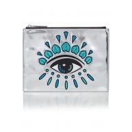 KENZO Eye clutch in metallic