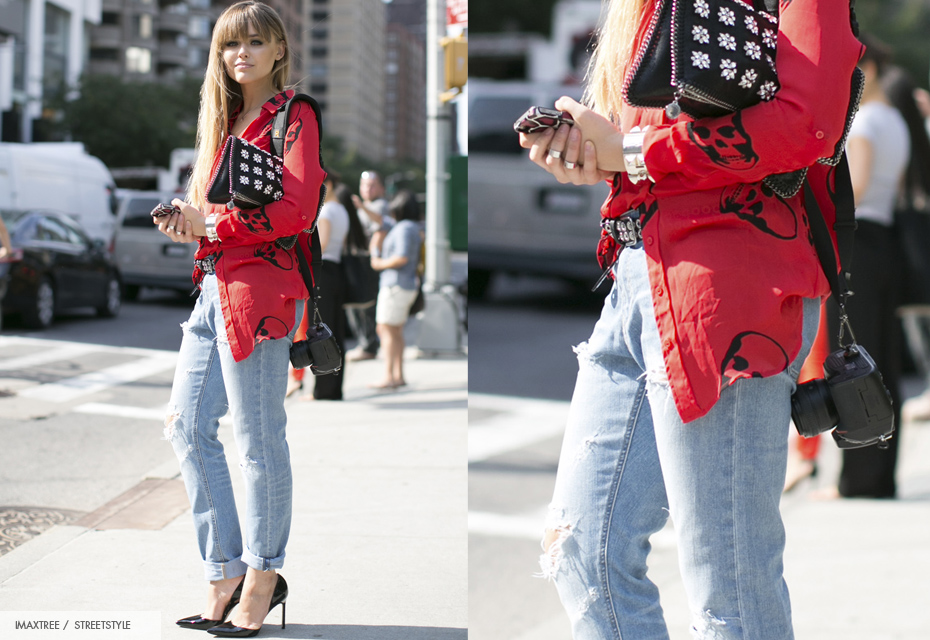 Streetstyle ripped jeans