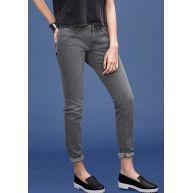 s.Oliver Denim Catie slim: slim fit jeans met een used look