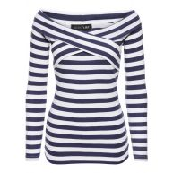 Dames shirt lange mouw in blauw - BODYFLIRT