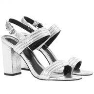 Silver Strappy Sandals