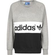 Adidas City W sweater grijs flecked zwart