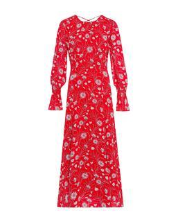 Chiffon Midi Dress Lovers Red