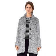 Tweed jas AMY VERMONT zwart/wit