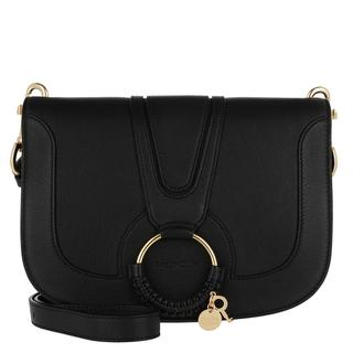 Tasche - Hana Crossbody Leather Black in zwart voor dames