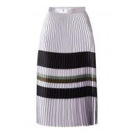 Reiss Sophia metallic A-lijn rok met plissé en gestreept dessin