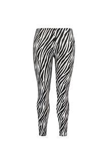 Dames Legging met zebraprint Zwart