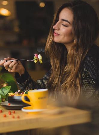 alleen eten