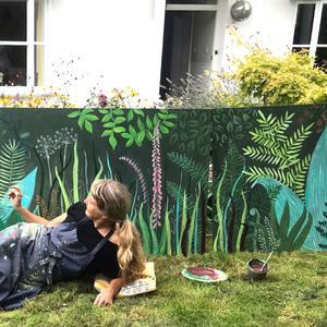 muurschilderingen planten