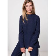 Another-Label Davies top l/s blauw