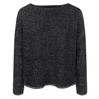 Knitted Glitter Sweater - Black