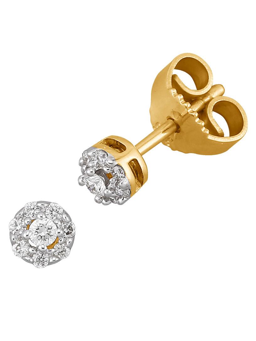 Orecchini Tintinnio Con Diamanti Bianchi