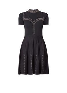 Fijngebreide A-lijn jurk met studs