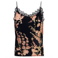 Velvet Flower Top - Black