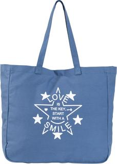 Dames shopper in blauw