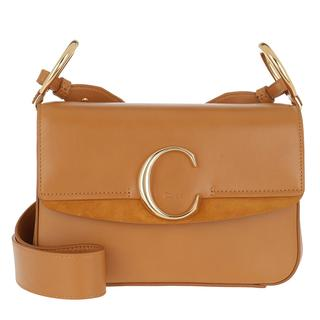 Tasche - Double Carry Small Shoulder Bag Leather Autumnal Brown in cognac voor dames - Gr. Small