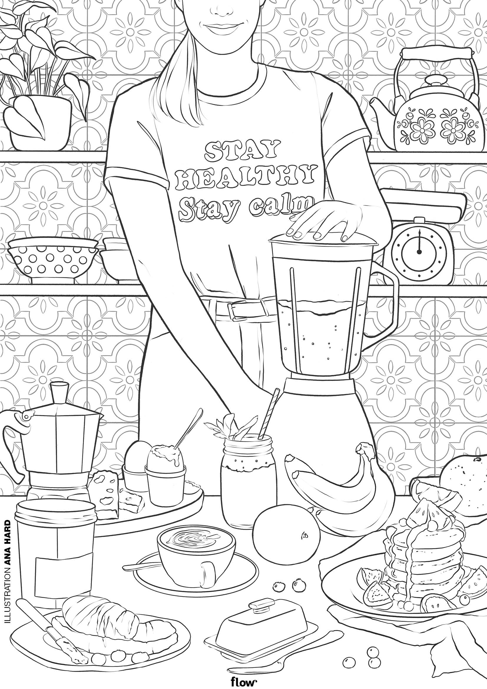 Kids-n-fun.com | Coloring page Keep Calm keep calm and stay positive | 2339x1654