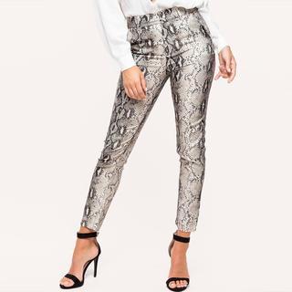 slangenprint pantalon