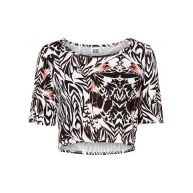 Vero Moda Shirt met 2/4 mouwen »CATI 2/4 PRINTED CROPPED TOP«