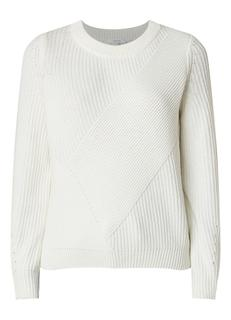 Parissa grofgebreide pullover in wolblend