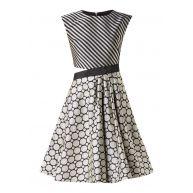 Ted Baker Reetah cut-out A-lijn jurk met dessin en structuur