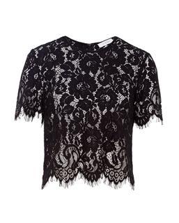 Boxy Lace Top Black