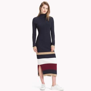 Tommy Icons jurk met multicolorstreep