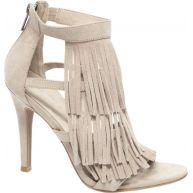 Beige sandalette franjes