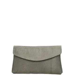 Leather Collection Anaconda clutch storm