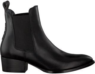 Zwarte Chelsea Boots Pin Logo Mid