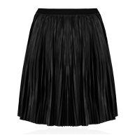 Coated Plissé Skirt - Black