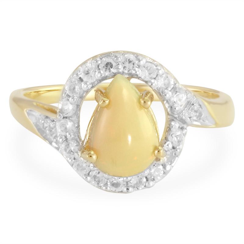 Anello Oro Juwelo Con Un Opale Indonesiano