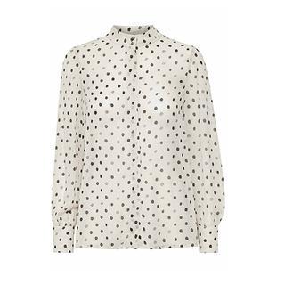 blouse wit stippen