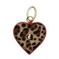 Fabienne Chapot Sleutelhangers Twin Keyholder Heart Bruin