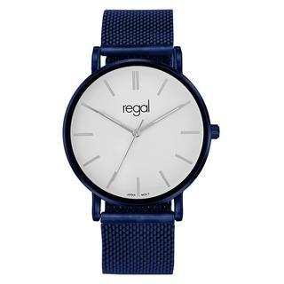 mesh horloge met blauwkleurige band