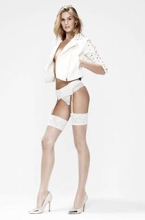 2 paar Stockings 15 Denier Lace Huidskleur