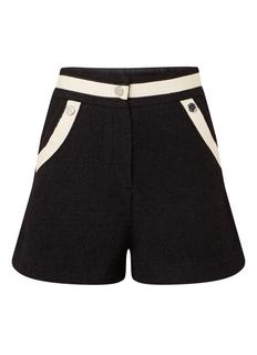 Ilian high rise shorts van tweed met contrastbies