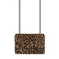 Crossbody Chain Clutch - Leopard Brown